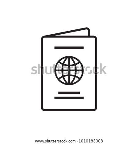 Passport, vector, icon, logo isolated Illustration.