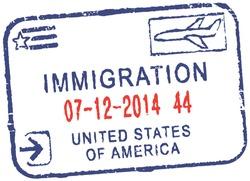 Passport vector stamp ''Immigration-United States Of America''