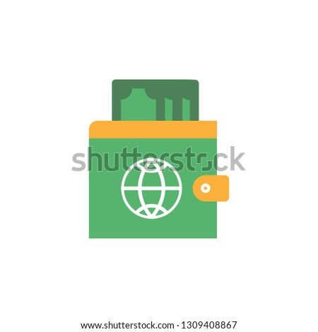 Passport with wallet and money icon. Element of Travel icon for mobile concept and web apps. Detailed Passport with wallet and money icon can be used for web and mobile