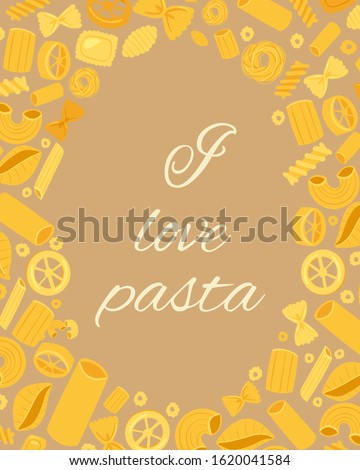 pasta different types fusilli