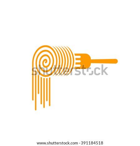 pasta fork vector logo  fork