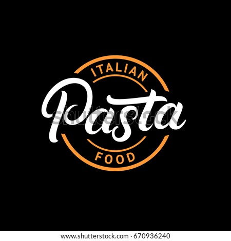 pasta hand written lettering