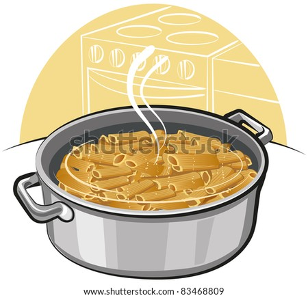 pasta in the pot