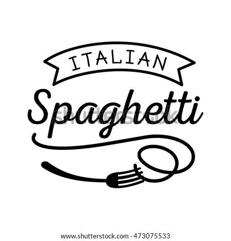 pasta logo design with spoon