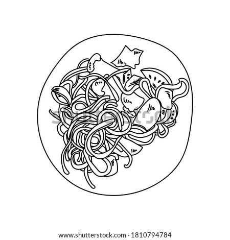 Spaghetti Coloring Page At Getdrawings Free Download