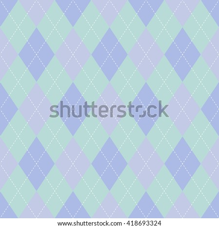 pastel color seamless argyle