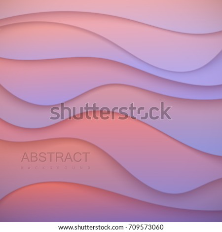 pastel colorful wavy paper cut