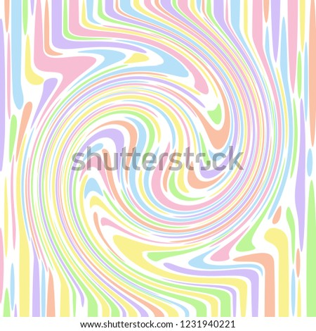 Pastel coloured abstract striped swirl that looks like knotted wood. Groovy, psychedelic vector background.