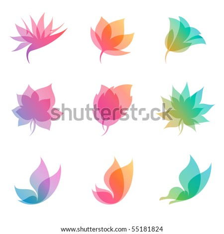 Pastel nature. Elements for design. Vector illustration (eps8). - stock vector