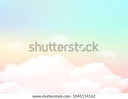 pastel of sky and soft cloud