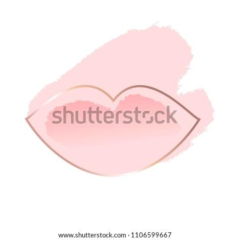 pastel rose and white brush