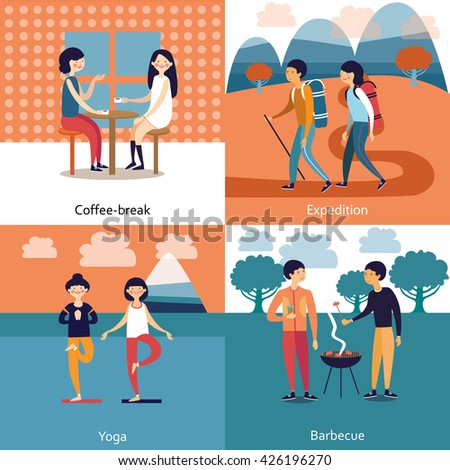 pastime of friends concept with