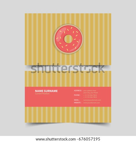 Pastry chef business card design template.