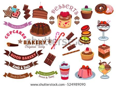 pastry dessert badge design