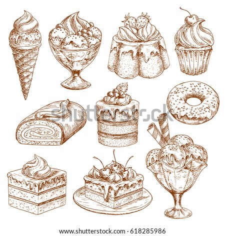 pastry  desserts and cakes