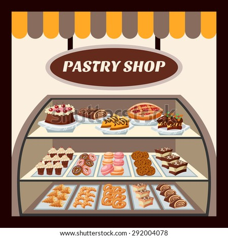 pastry shop background with