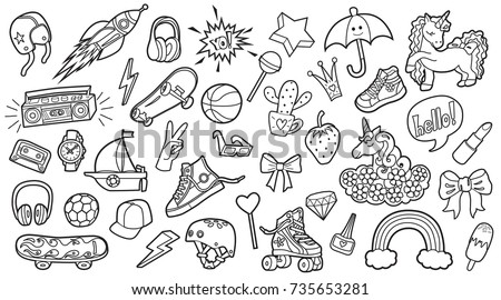 Only The Outline For Coloring Book Vector
