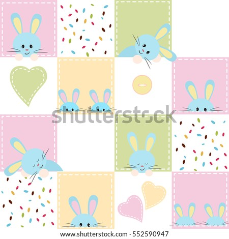 patchwork with rabbit. baby...