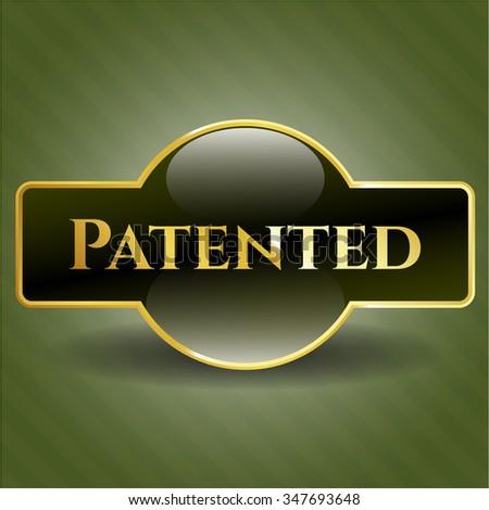 Patented golden badge
