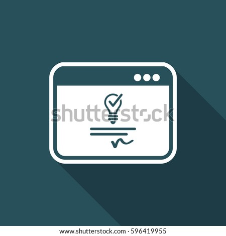 Patented idea - Vector icon for computer website or application