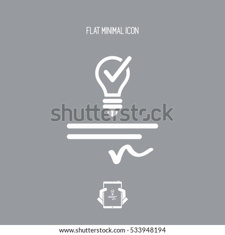 Patented idea - Vector web icon