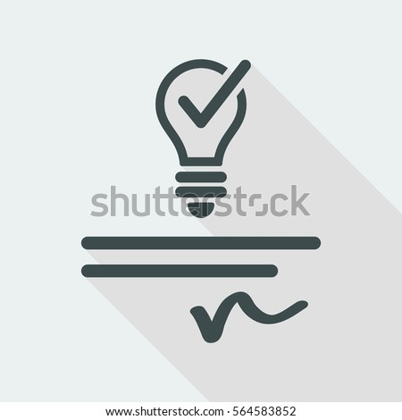 Patented idea - Vector web icon