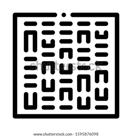 Paternity Genetics Test Icon Vector. Outline Paternity Genetics Test Sign. Isolated Contour Symbol Illustration