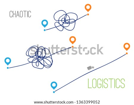 Path from point A to point B. Proper traffic logistics. Optimal direct way. start and end journey symbol. vector illustration isolated on white background.