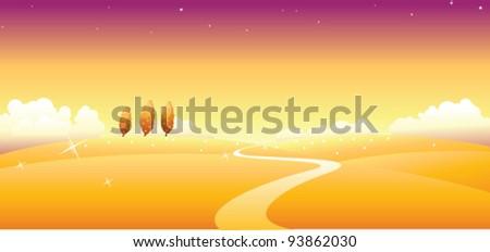Path over landscape