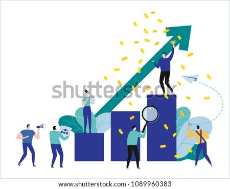 path to a target's growth vector illustration banner.