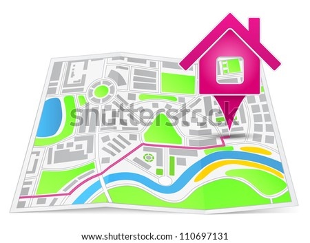 Path to the house, vector eps10 illustration