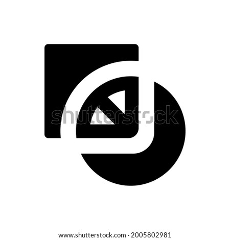 Pathfinder exclude icon. Vector EPS file. Stock photo ©