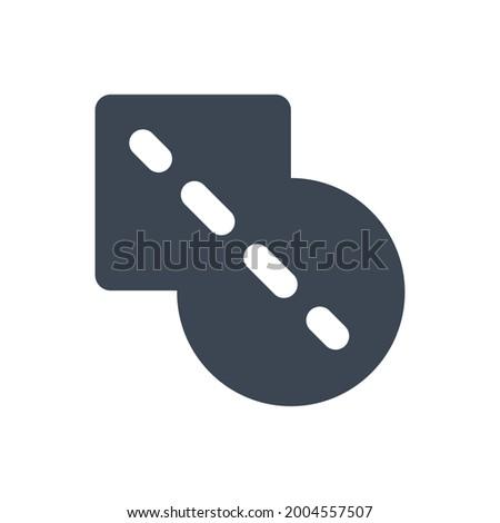 Pathfinder unite icon. Vector EPS file. Stock photo ©
