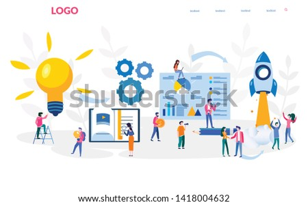Paths to success, step for success business, achieving the goal, motivation, successful path, career planning, vector illustration for web, social media, presentation, mobile.
