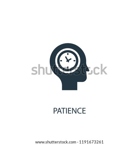 patience icon. Simple element illustration. patience concept symbol design. Can be used for web and mobile.