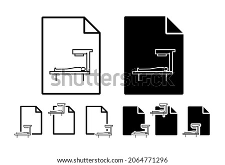 Patient bed, apparatuses vector icon in file set illustration for ui and ux, website or mobile application