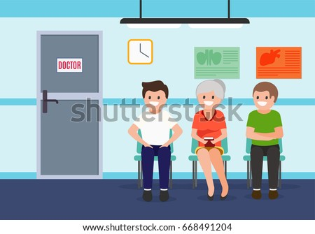 patients in waiting room in