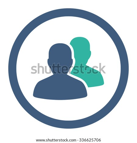 Patients vector icon. Style is bicolor flat rounded symbol, cobalt and cyan colors, rounded angles, white background.