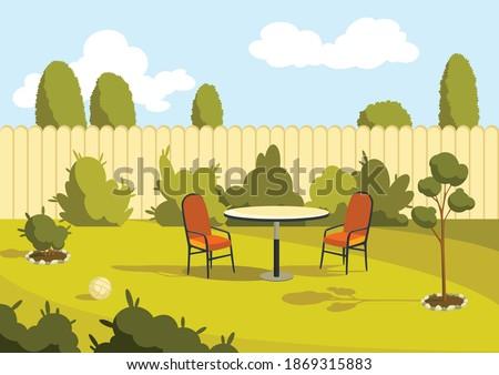 patio area sunny back yard