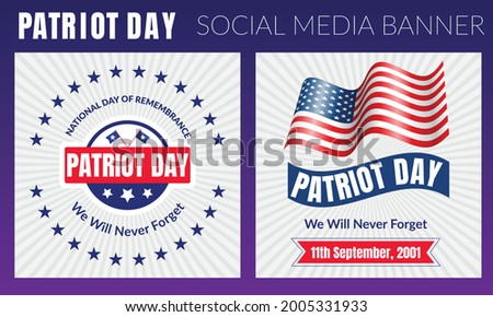 patriot day illustration we
