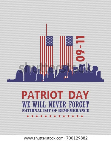 patriot day vector poster