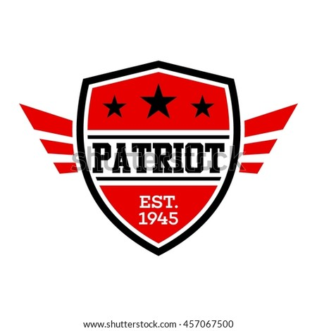 Patriotic badge and emblem design template