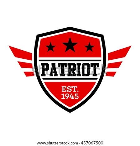 Patriotic badge and emblem design template