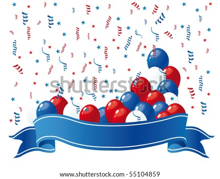 patriotic banner with balloons 2
