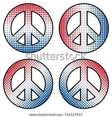 patriotic halftone peace