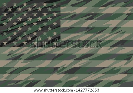 patriotic jungle green camo usa