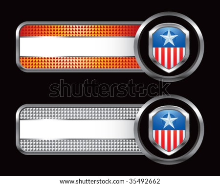 patriotic shield on specialized banners