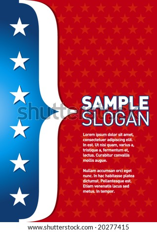 Patriotic template. Can be used as a poster or an invitation card. Just place your own texts and titles.
