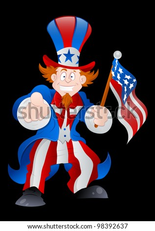 Patriotic Uncle Sam Vector