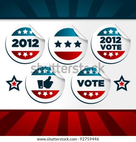 Patriotic Voting Stickers.